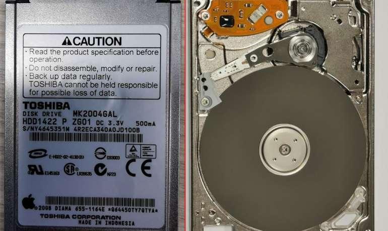 """1,8"""" standžiojo disko duomenų atstatymas"""
