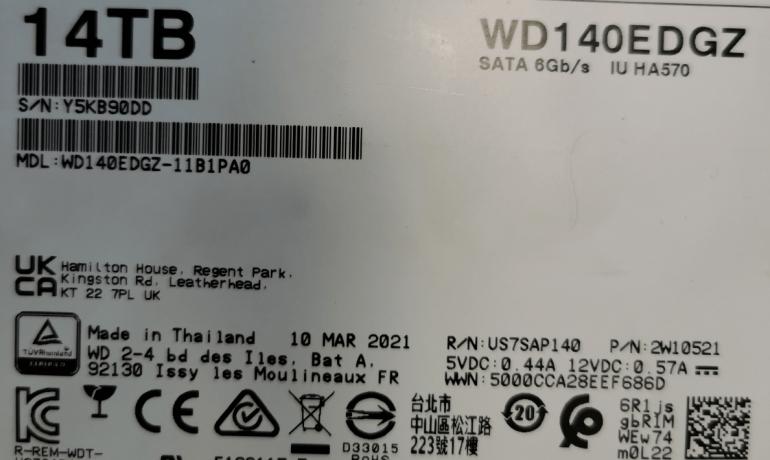 Western Digital 14 TB duomenų atstatymas
